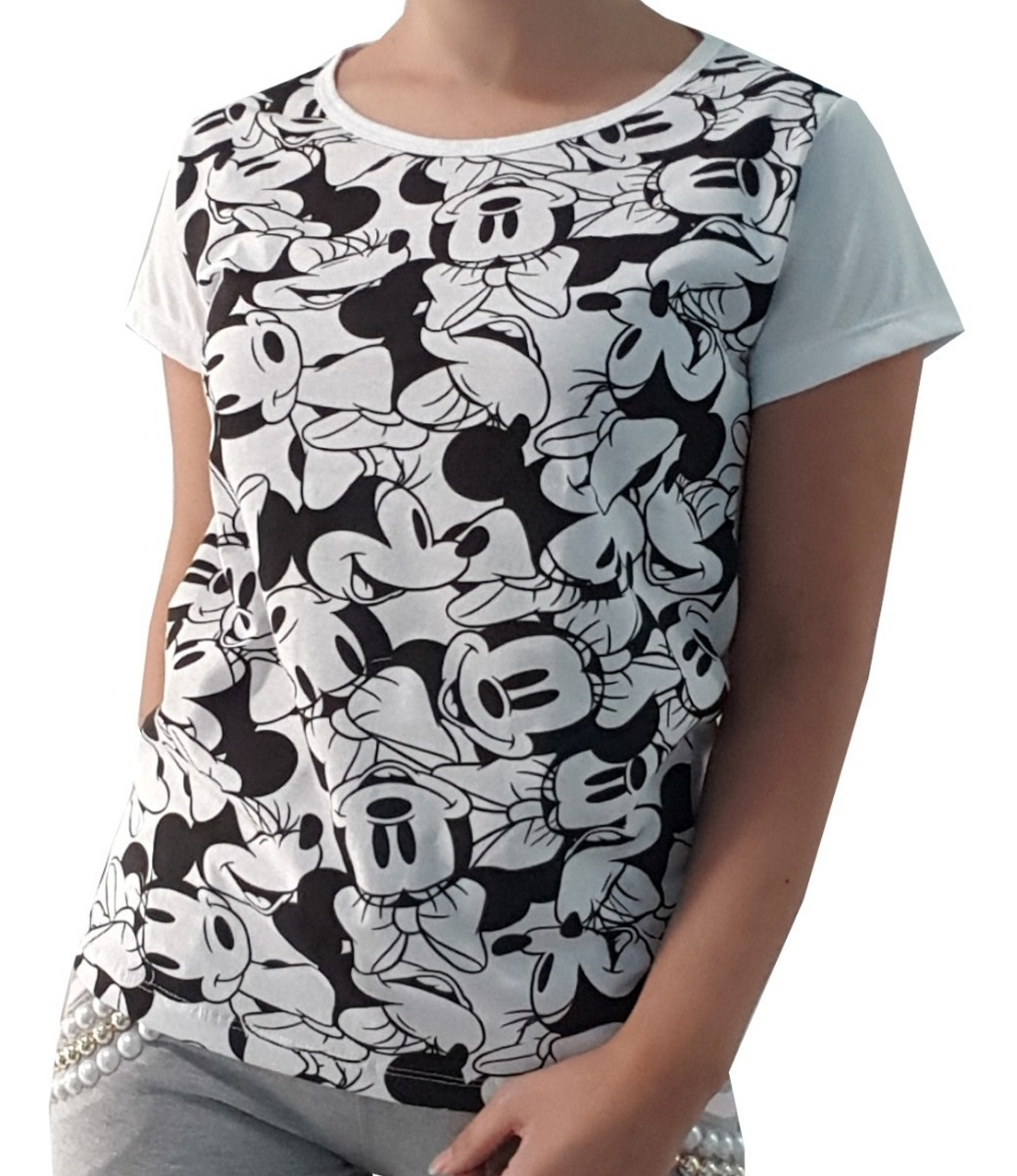 57ccb011d Atacado Kit 5 T-shirt Blusinha Camiseta Feminina Mickey Moda - R$ 90 ...