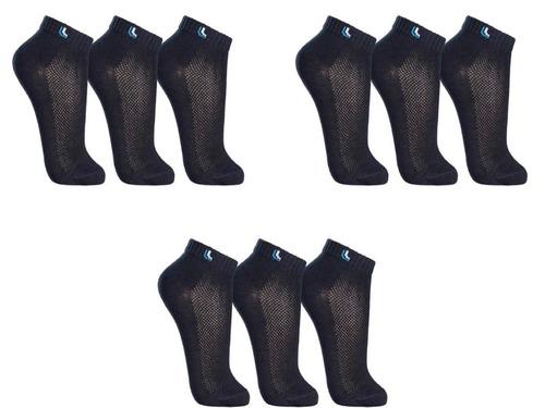 atacado kit 9 pares meias masculina lupo cano curto algodão