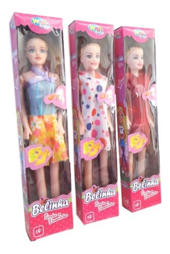 atacado kit com 10  bonecas baratas plástico com caixinha