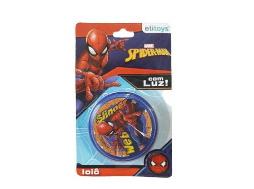 atacado kit com 10 ioiô com luz homem aranha spider man
