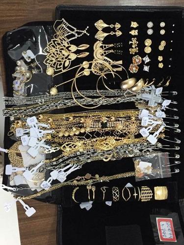 atacado kit semi joias com 70 peças + mostruário grátis!
