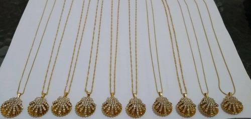 atacado kit semi joias folheados 40 peças+ mostruário grátis