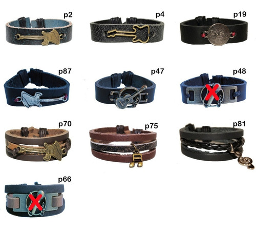 atacado pulseira de couro - evangélica cristã gospel kit 80