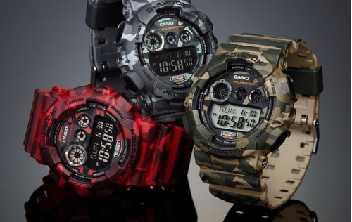 atacado relógio casio g-shock camuflado digital esportivo