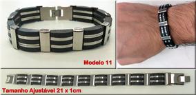 957b88ebc Pulseira Masculina Aco Inox Ajustavel - Joias e Relógios no Mercado Livre  Brasil