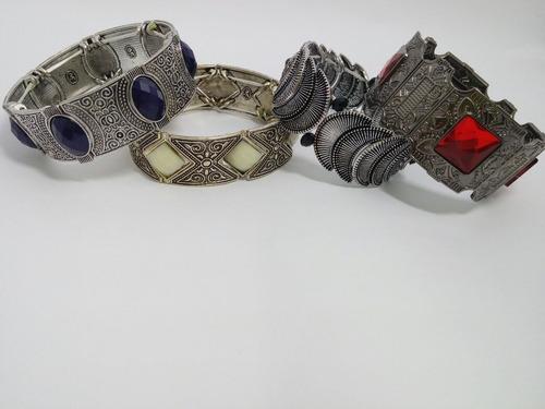 atacado revenda bijuterias kit 5 pulseiras + brinde