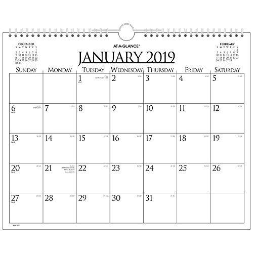 Calendario Diciembre.Ataglance Mensual Calendario De Pared Enero 2019 Diciembre