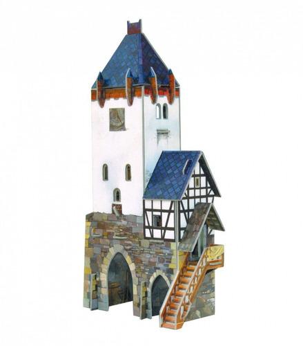 atalaya medieval modelo a escala (rompecabezas 3d)