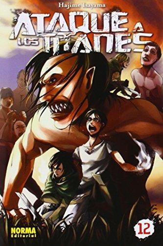 ataque a los titanes 12 (manga - ataque a los t envío gratis