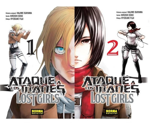 ataque a los titanes lost girls vol 1 y 2