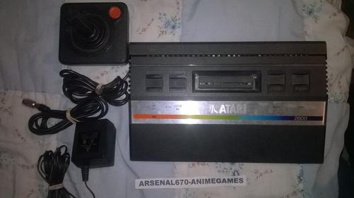 atari 2600 consola 1 control y 6 juegos paquete a