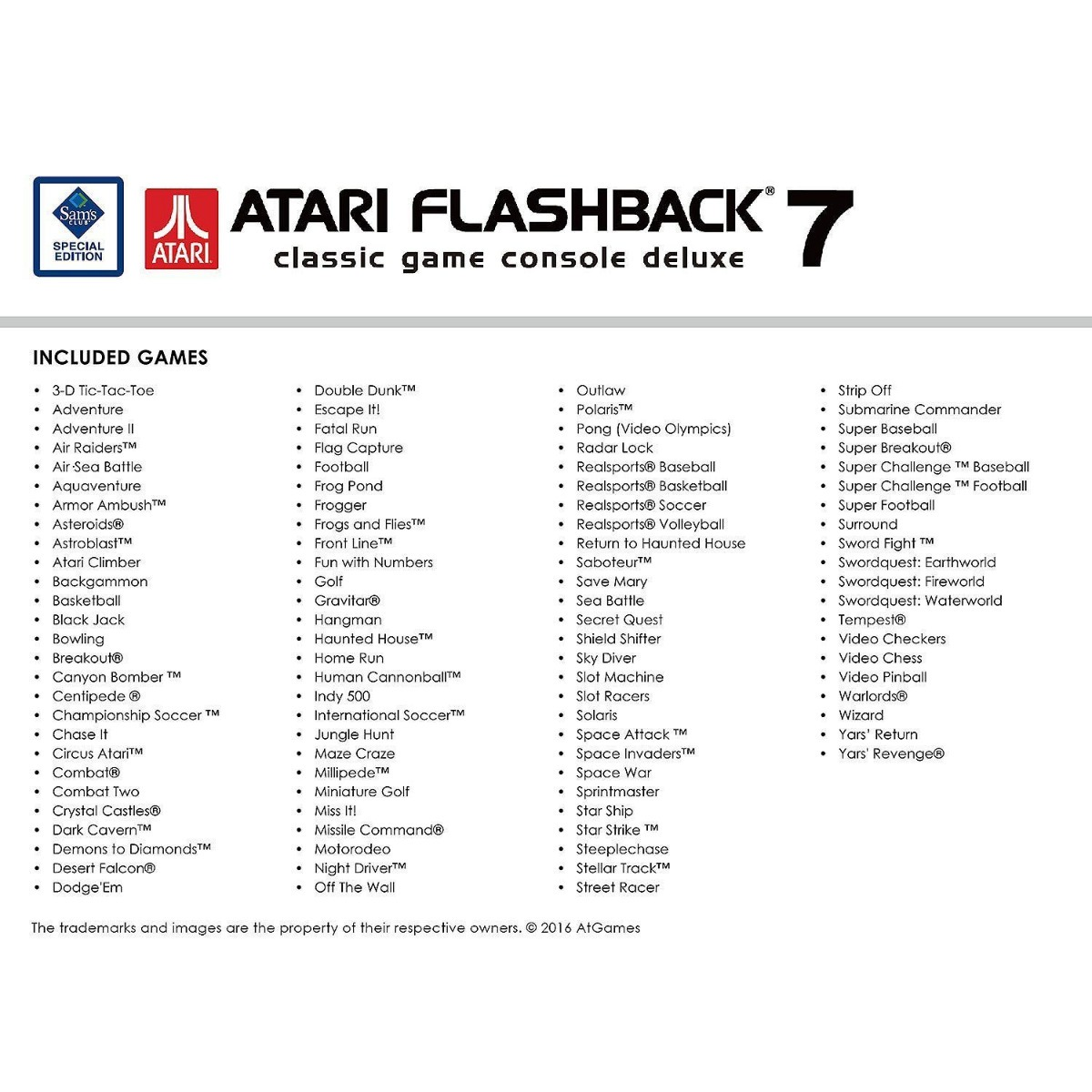 Atari Flashback 7 Deluxe 101 Juegos 4 Controles 3 400 00 En