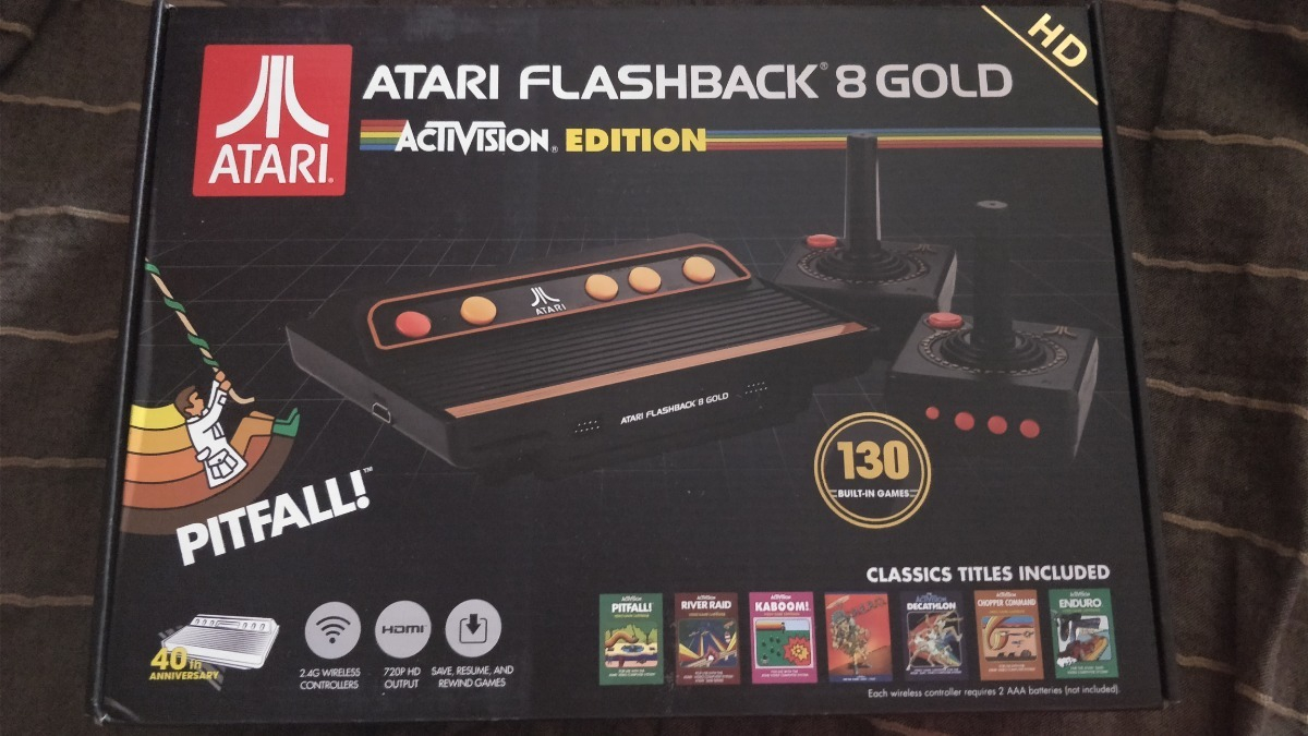 Atari Flashback 8 Gold 130 Juegos 2 Controles Inalambricos