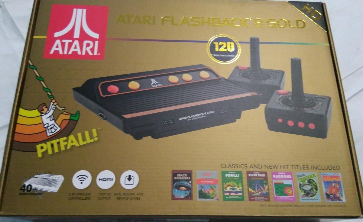 Atari Hdmi Flashback 8 Gold 120 Juegos 2 Control Inalambrico