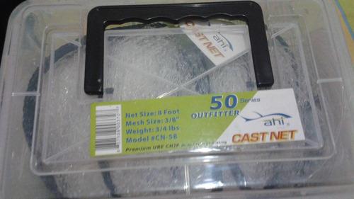 atarraya red de nylon pesca 8 pies / 2,43 mts de alto