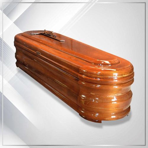 ataud de madera vidrio velación con  cerradura español