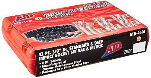 atd tools 4601 38 drive 6point 42piece saemetricstandard y d