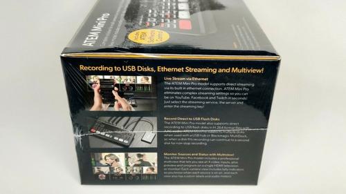 atem mini pro - mesa de vídeo blackmagic design