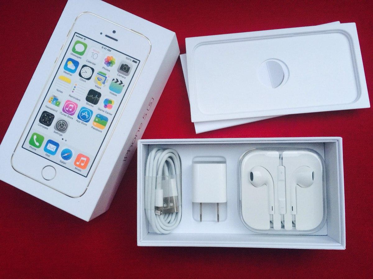 b12544c209c Atención! Caja Completa C/ Accesorios Para iPhone 5s.no Celu ...