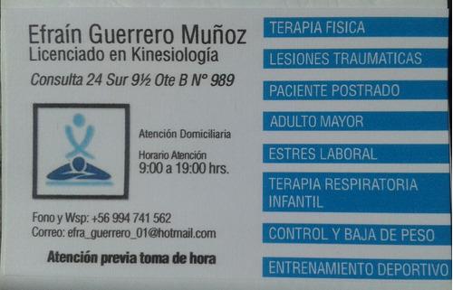 atención kinesiologica domiciliaria