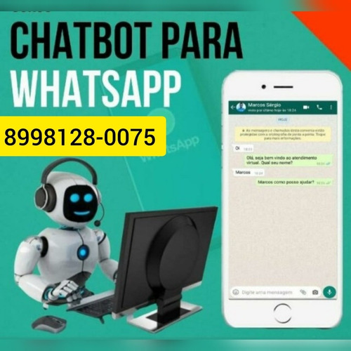 atendente online delivery assistente virtual chatbot