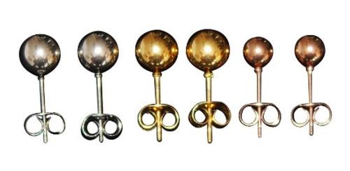 ateres topos,   juego de 3 piezas pares - acero bañado oro