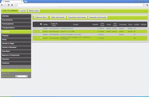 athenas 5.2 sistema comercial com fontes nfc-e xe2