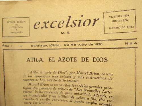 atila el azote de dios. marcel brion excelsior n 4
