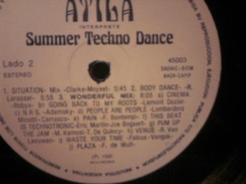 atila summer techno dance vinilo nacional