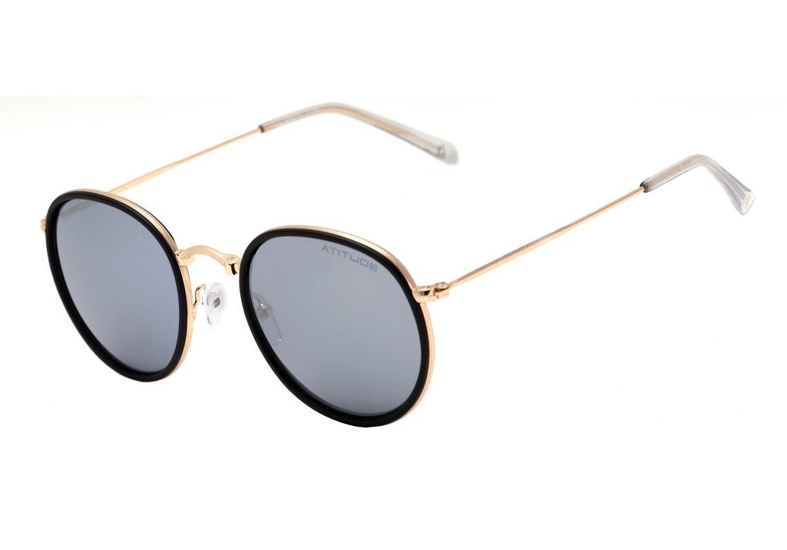 atitude at 3192 - óculos de sol 04b azul fosco e dourado. Carregando zoom. 07573b36f8
