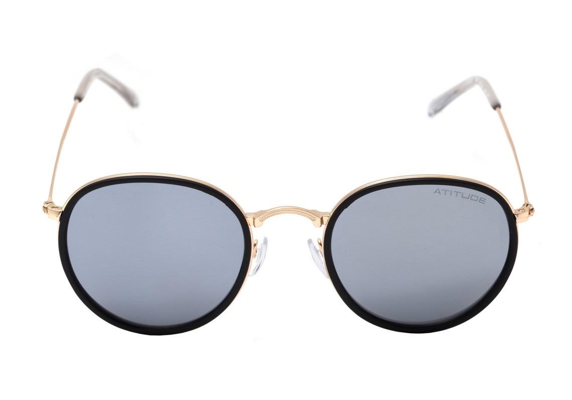 6861d90c62bb9 atitude at 3192 - óculos de sol 04b azul fosco e dourado. Carregando zoom.