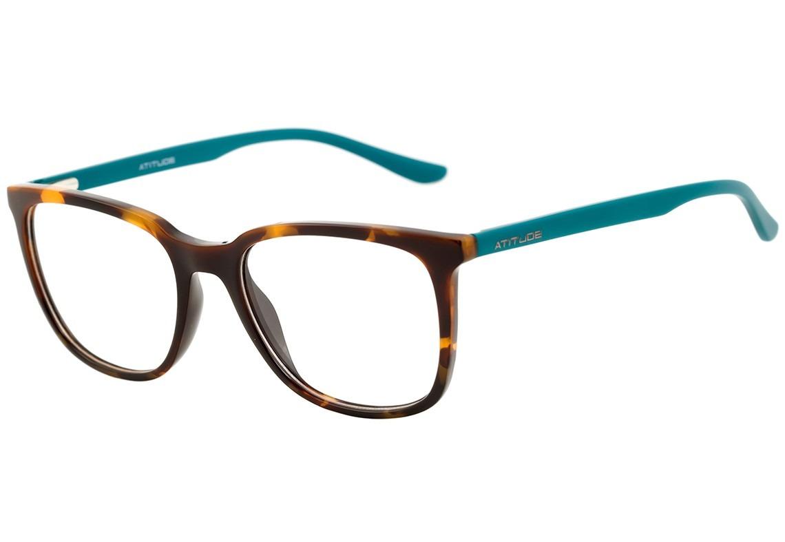 9ebad403f Atitude At 4060 - Óculos De Grau G21 Marrom Mesclado Brilho - R$ 207 ...