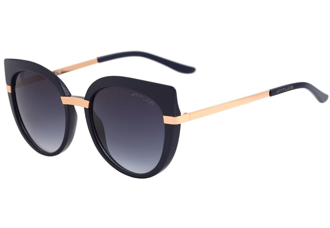 e7dfa096e Atitude At 5316 - Óculos De Sol D01 Azul E Dourado Brilho/ - R$ 80 ...