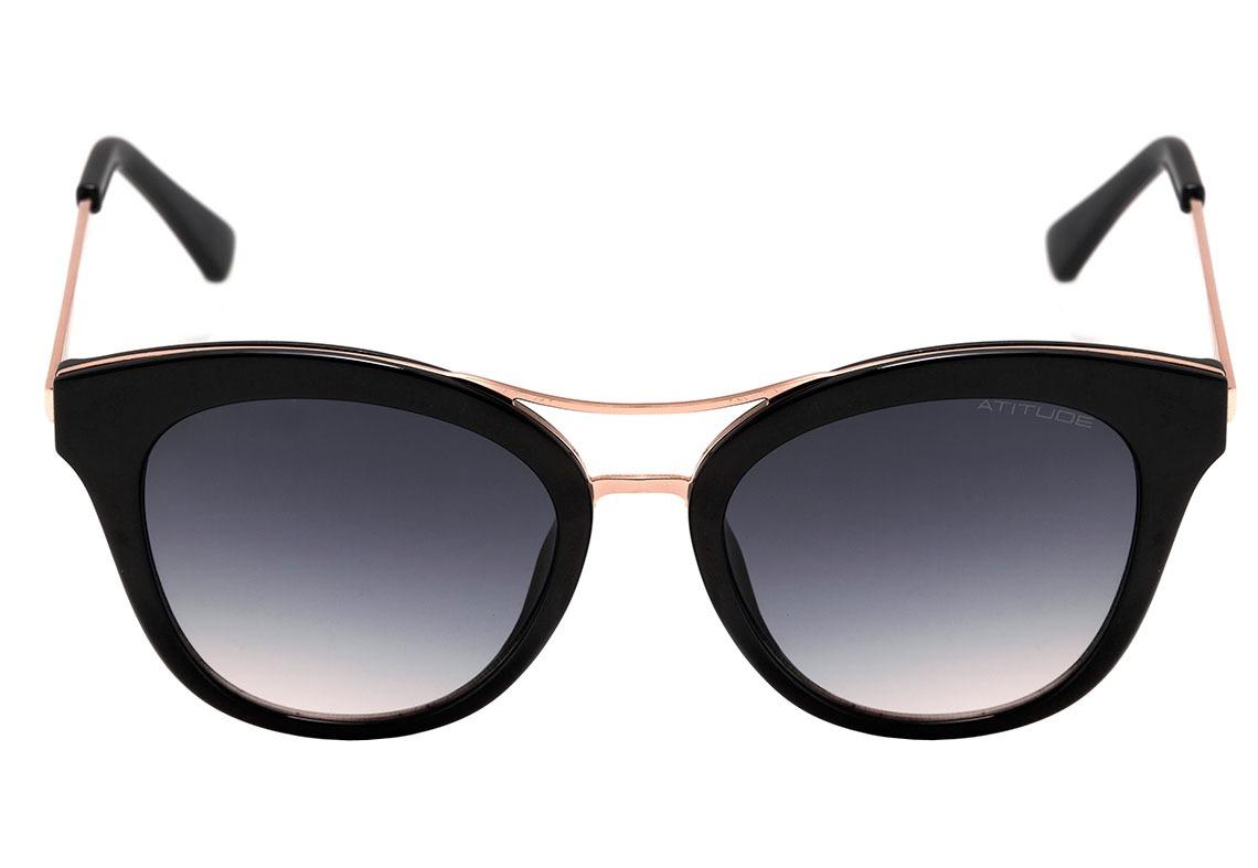 atitude at 5368 - óculos de sol a01 preto e dourado brilho . Carregando  zoom. 959209faed