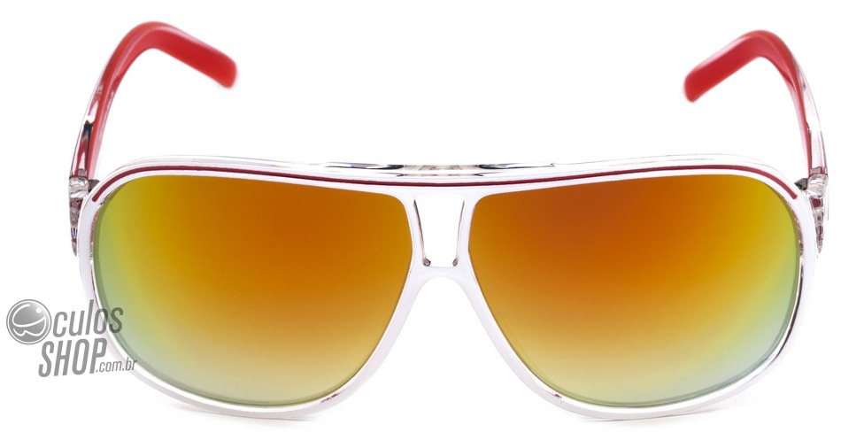 atitude mma at 5162 - óculos de sol h02 branco e vermelho . Carregando zoom. 18cecadb51