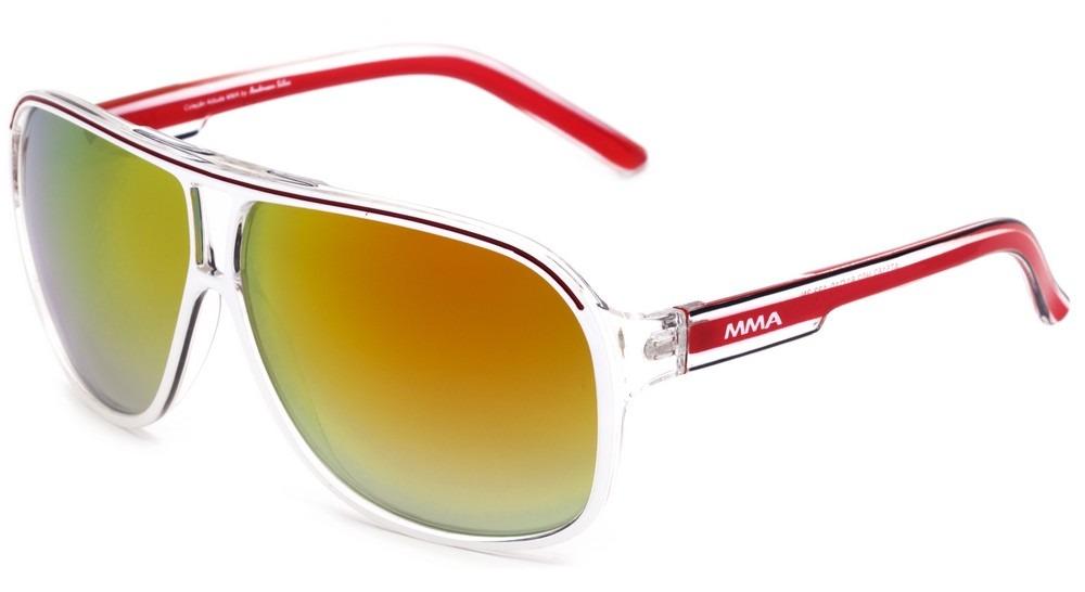 87232f288e6e3 Atitude Mma At 5162 - Óculos De Sol H02 Branco E Vermelho  - R  69 ...