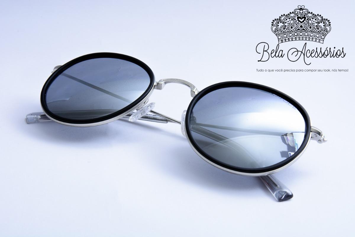 atitude oculos de sol redondo espelhado prata metal original. Carregando  zoom. aed44e0722