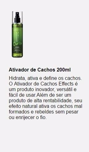 ativador de cachos effects lowell 200ml