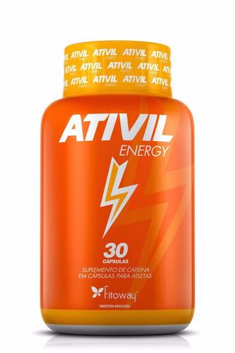 ativil energy - cafeína 105mg - 30 cáps - fitoway