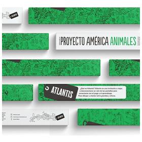 Atlantis Proyecto América Animales Mapa Gigante P/ Colorear