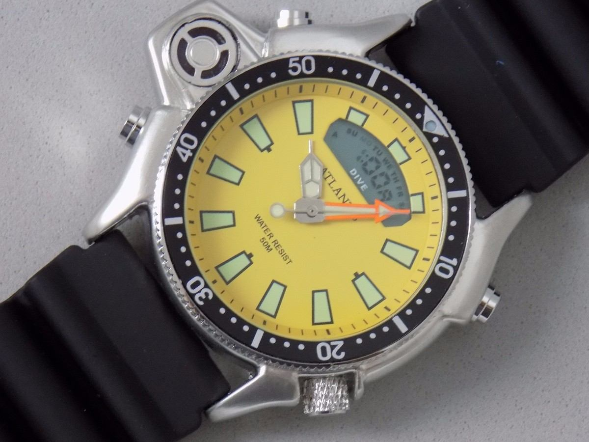 45a5f330861 Carregando zoom... relógio atlantis aqualand original mod 3220 puls.  borracha