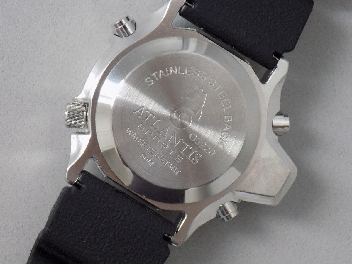 c359d44a7dd Relógio Atlantis Aqualand Original Mod 3220 Puls. Borracha - R  98 ...