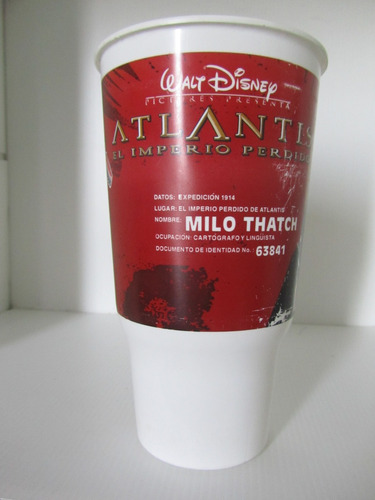 atlantis set x 3 vaso de coleccion unicos atlantida