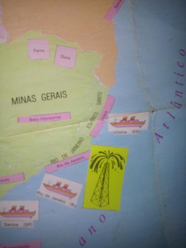 atlas brasileiro sulamericano antigo - 1977 com encarte raro