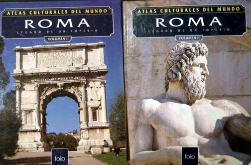 atlas culturales del mundo roma lote 2 libros no envio