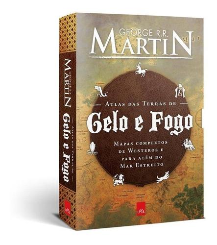 atlas das terras de gelo e fogo + 2 hq - george martin