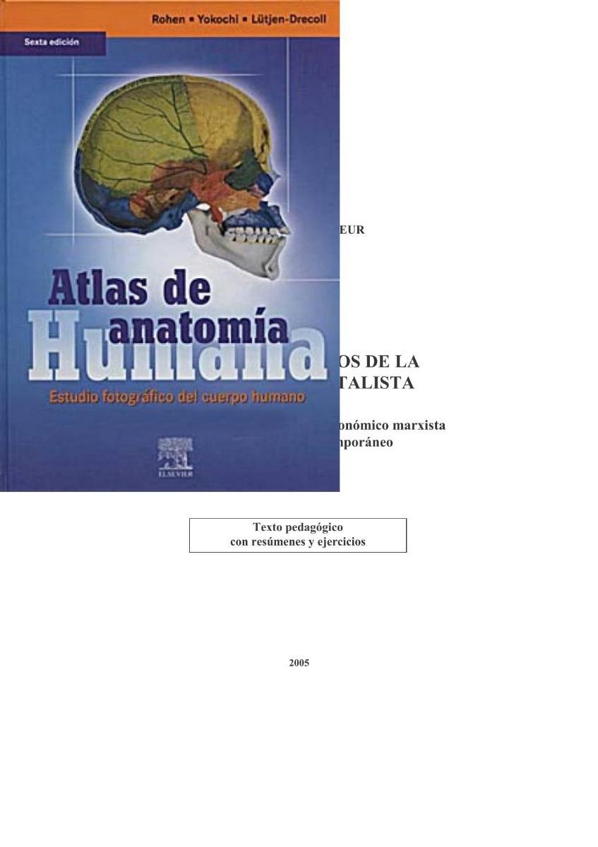 Atlas De Anatomia Humana Rohen 6ªed - $ 39,75 en Mercado Libre