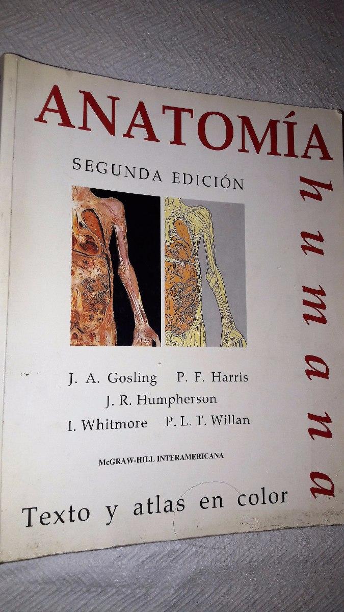 Atlas De Anatomía Humana, Texto Y Atlas En Color, 2° Edición ...