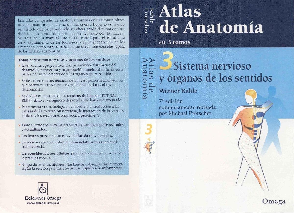Atlas De Anatomia Iii Sistema Nervioso Organos Los Sentidos ...