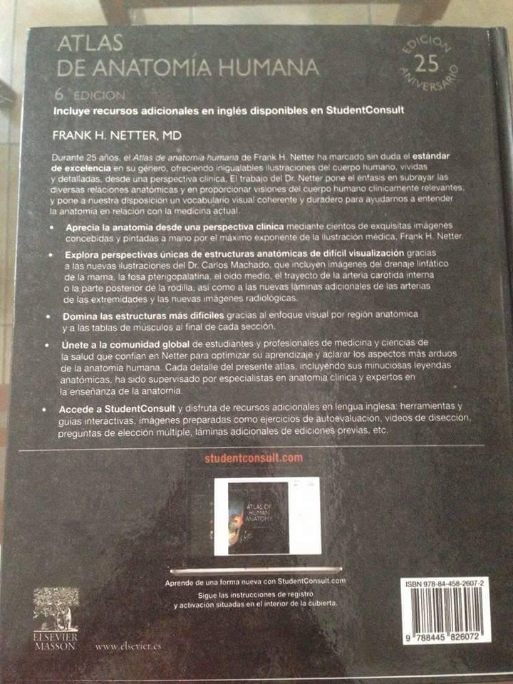 Atlas De Anatomia Netter 6 Edicion. - $ 120.000 en Mercado Libre